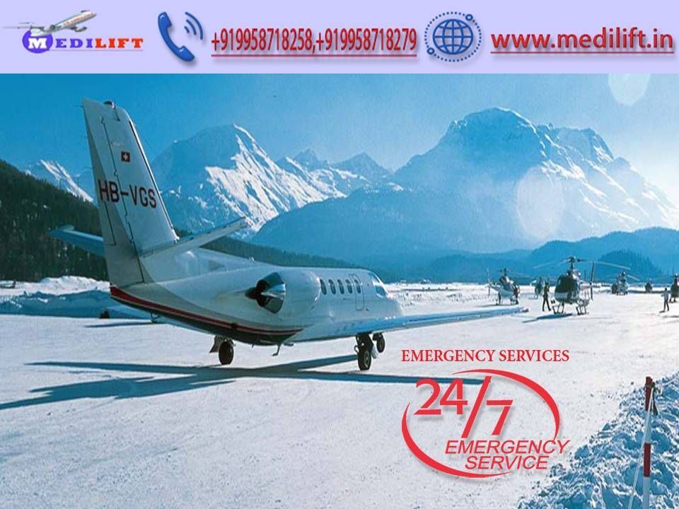 Get the safe patient transfer Air Ambulance in Kolkata