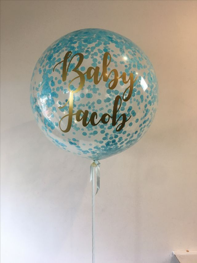 76ca206ea Custom printed confetti 3ft balloon | Balloon Bouquets | Baby Shower ...