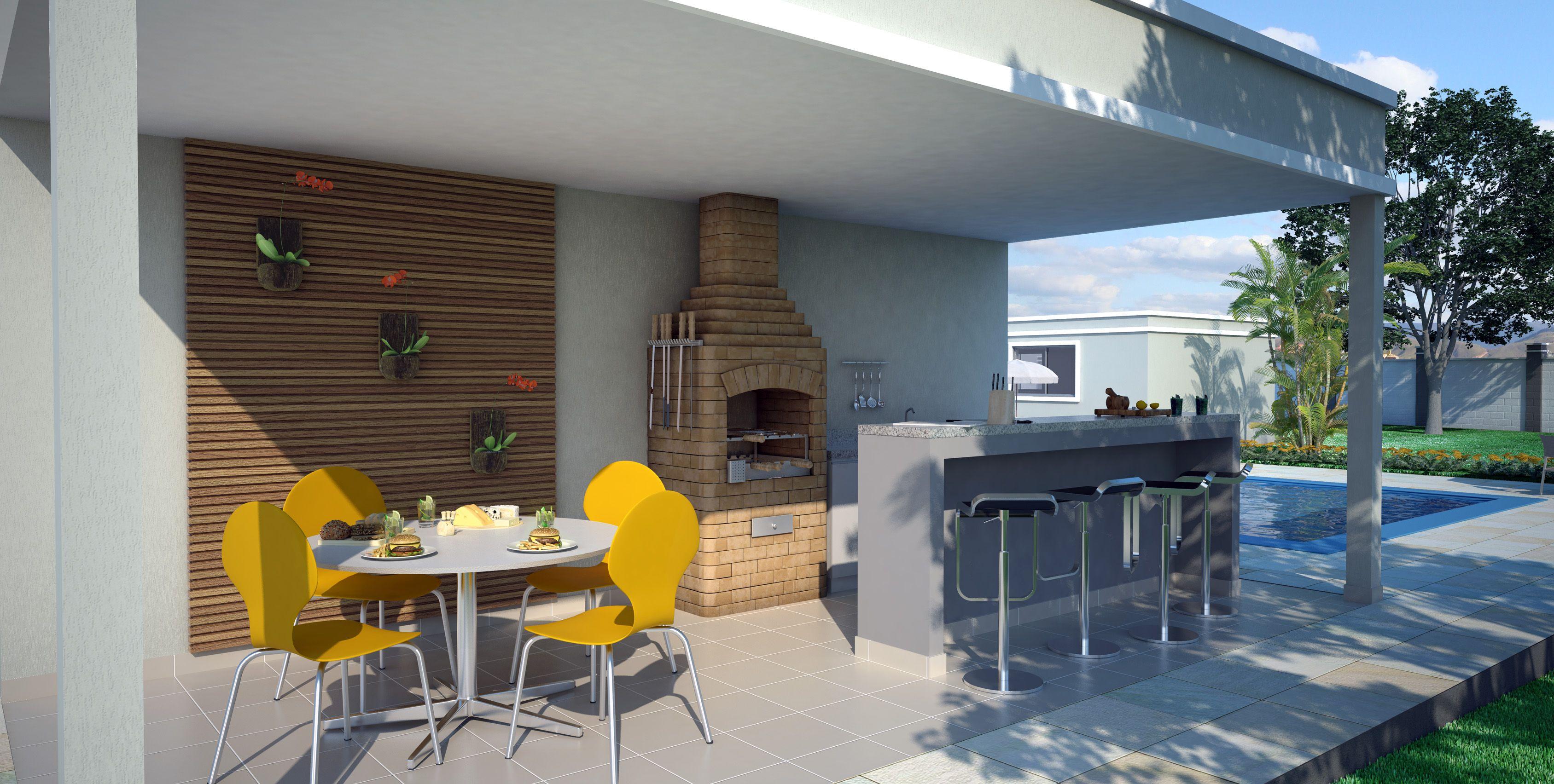 Aparador Area De Lazer ~ Projetos deárea de lazer com churrasqueira e piscinaÁreas de lazer, Churrasqueira e Lazer