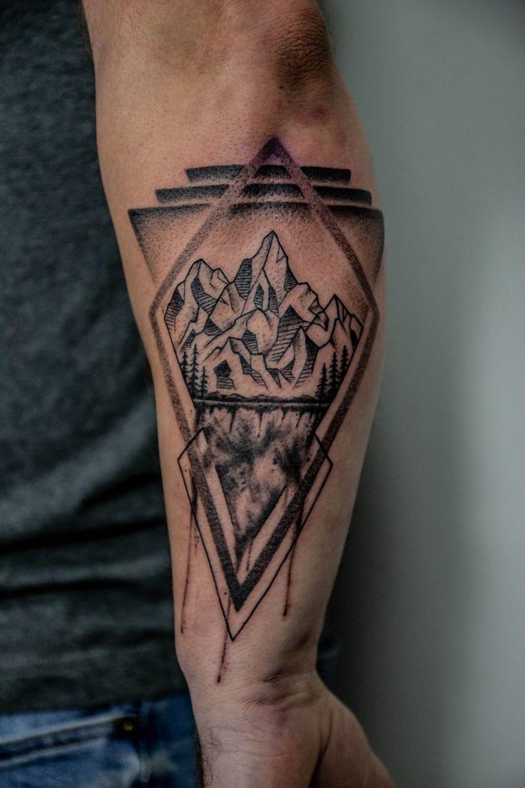 16++ Best Geometric abstract mountain tattoo ideas
