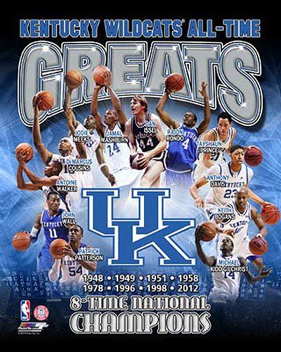 Kentucky Wildcats Basketball All Time Greats 12 Legends 8 Championships Premium Poster Print Kentucky Wildcats Basketball Wildcats Basketball Kentucky Wildcats