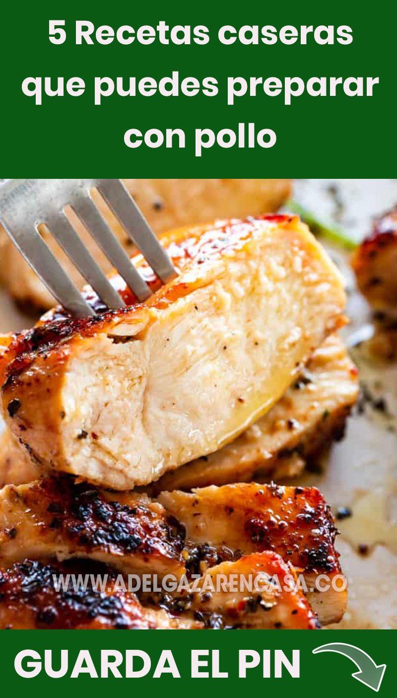5 recetas que puedes preparar con pollo