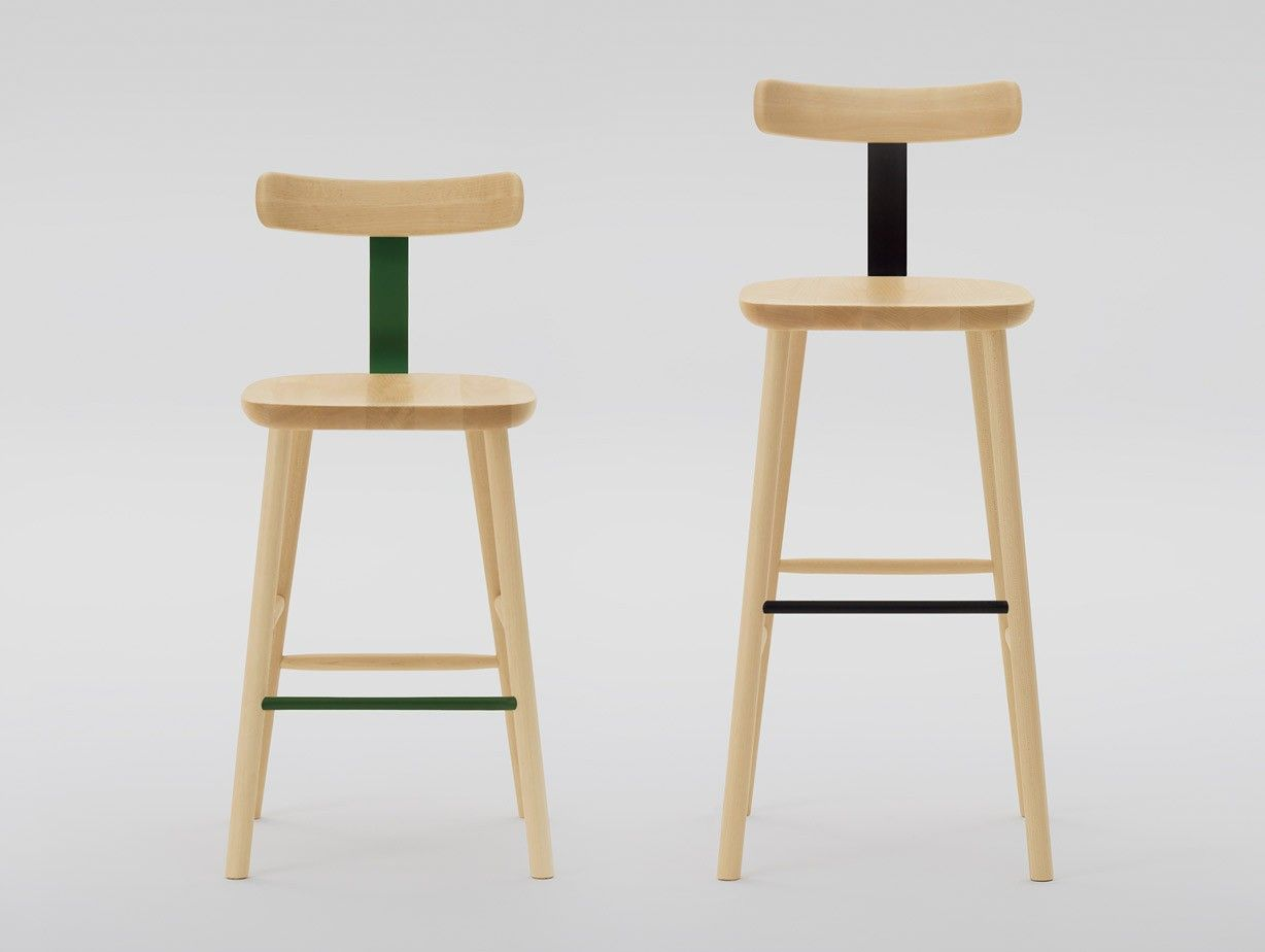 Jasper Morrisonu0027s T Stool For Maruni Is Made Of Machined Solid Maple With  Seat And Back Joined With A Formed, Painted Strip Of Sprung Steel Which Is  ... Home Design Ideas