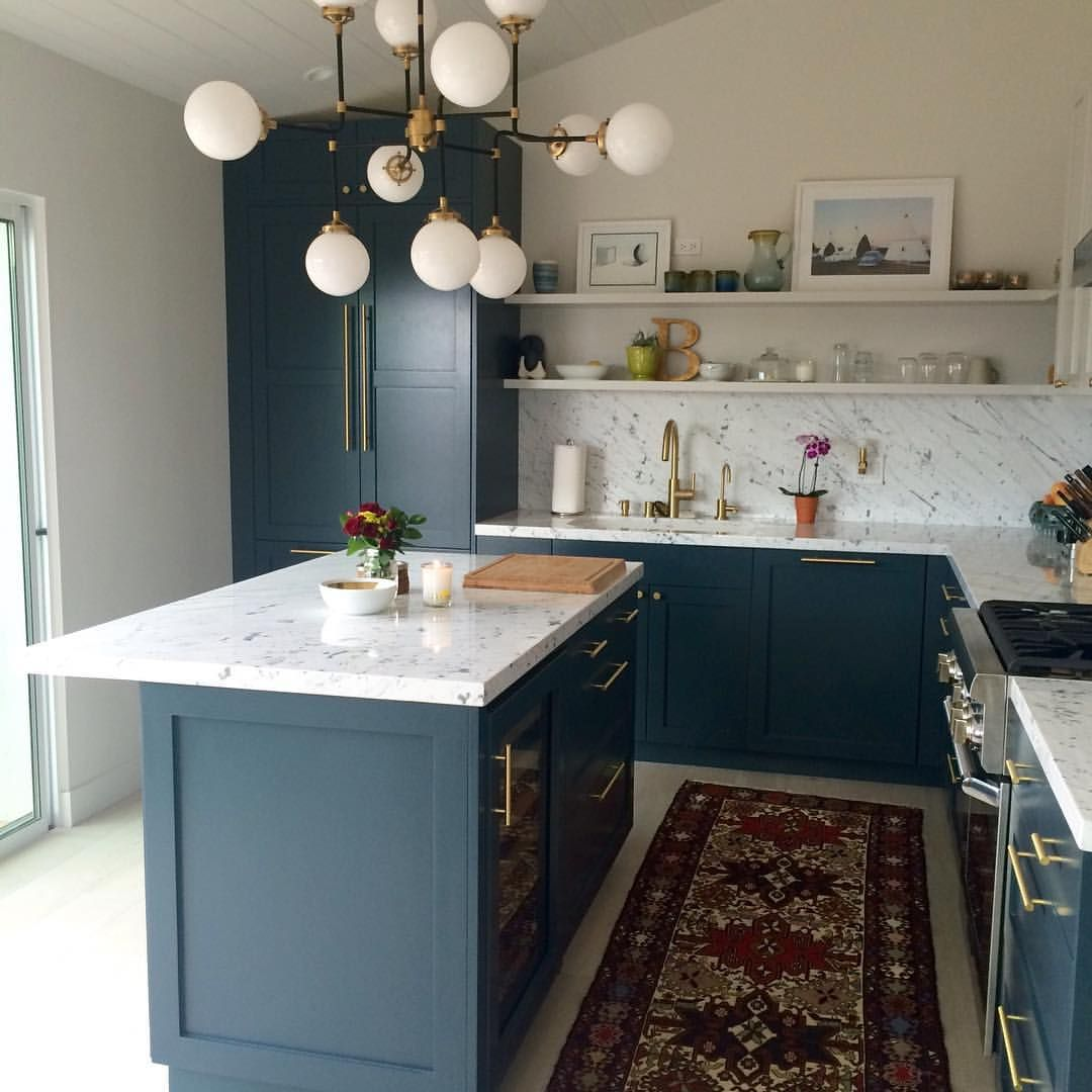 Dark Teal Kitchen Cabinets: Pin By Sarah Roulston On Our Home In 2019