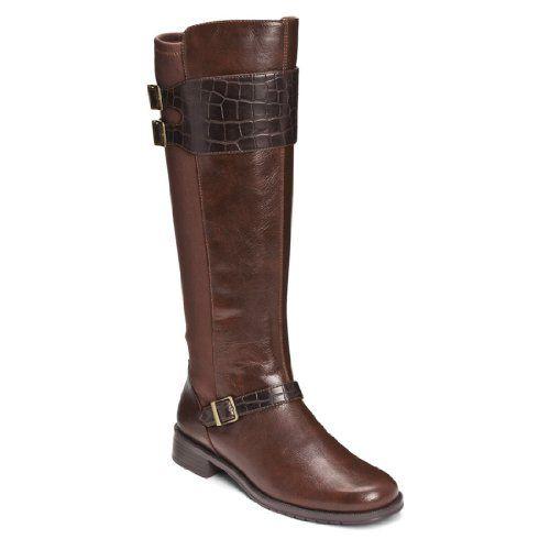Womens Boots Aerosoles High Ride Brown Croco