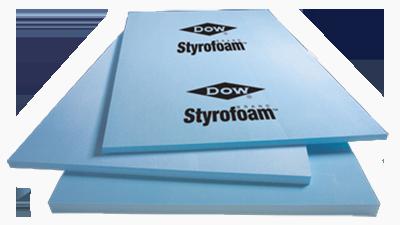Blue styrofoam sheets