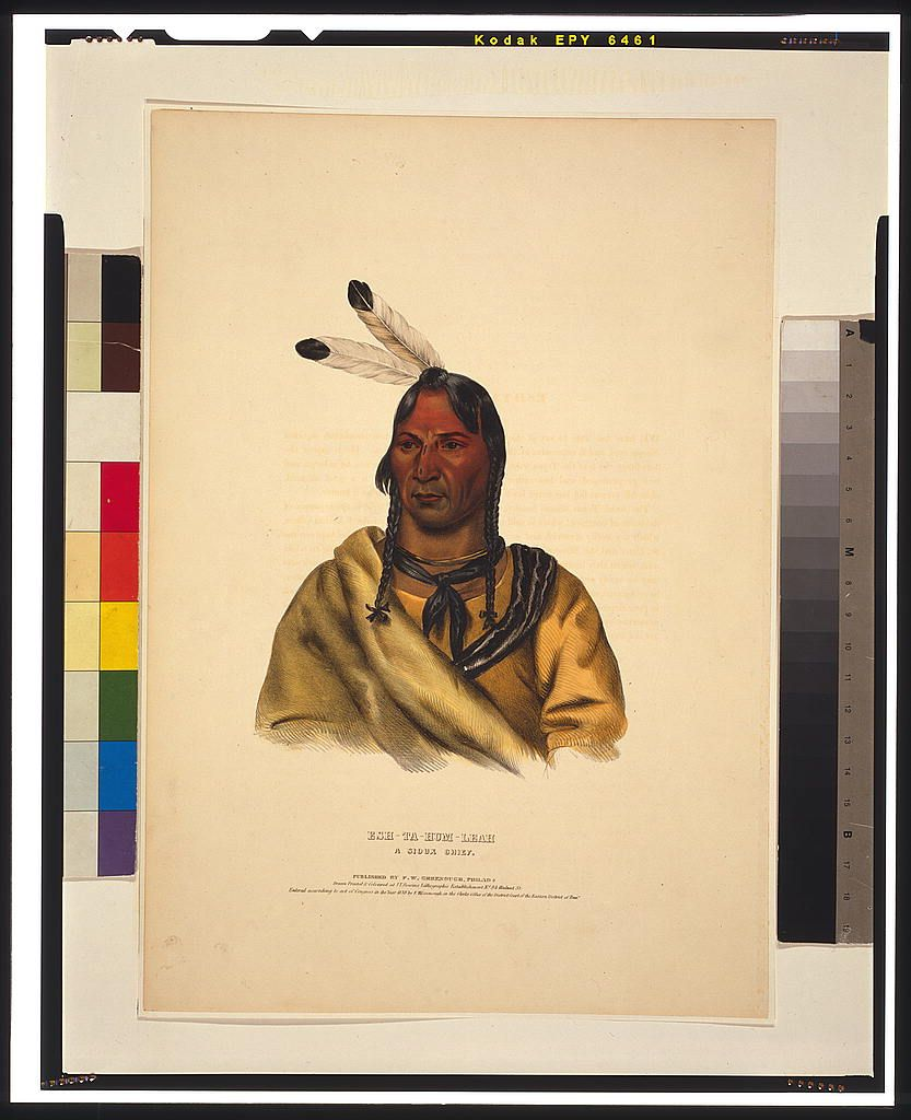 Esh-Ta-Hum-Leah, a Sioux chief / drawn, printed & coloured ...