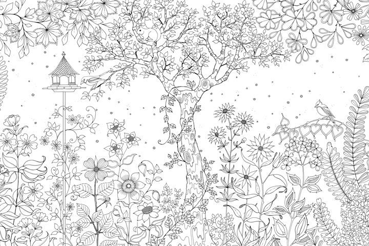Inspirational Coloring Pages From Secret Garden Enchanted Forest And Other Coloring Books For