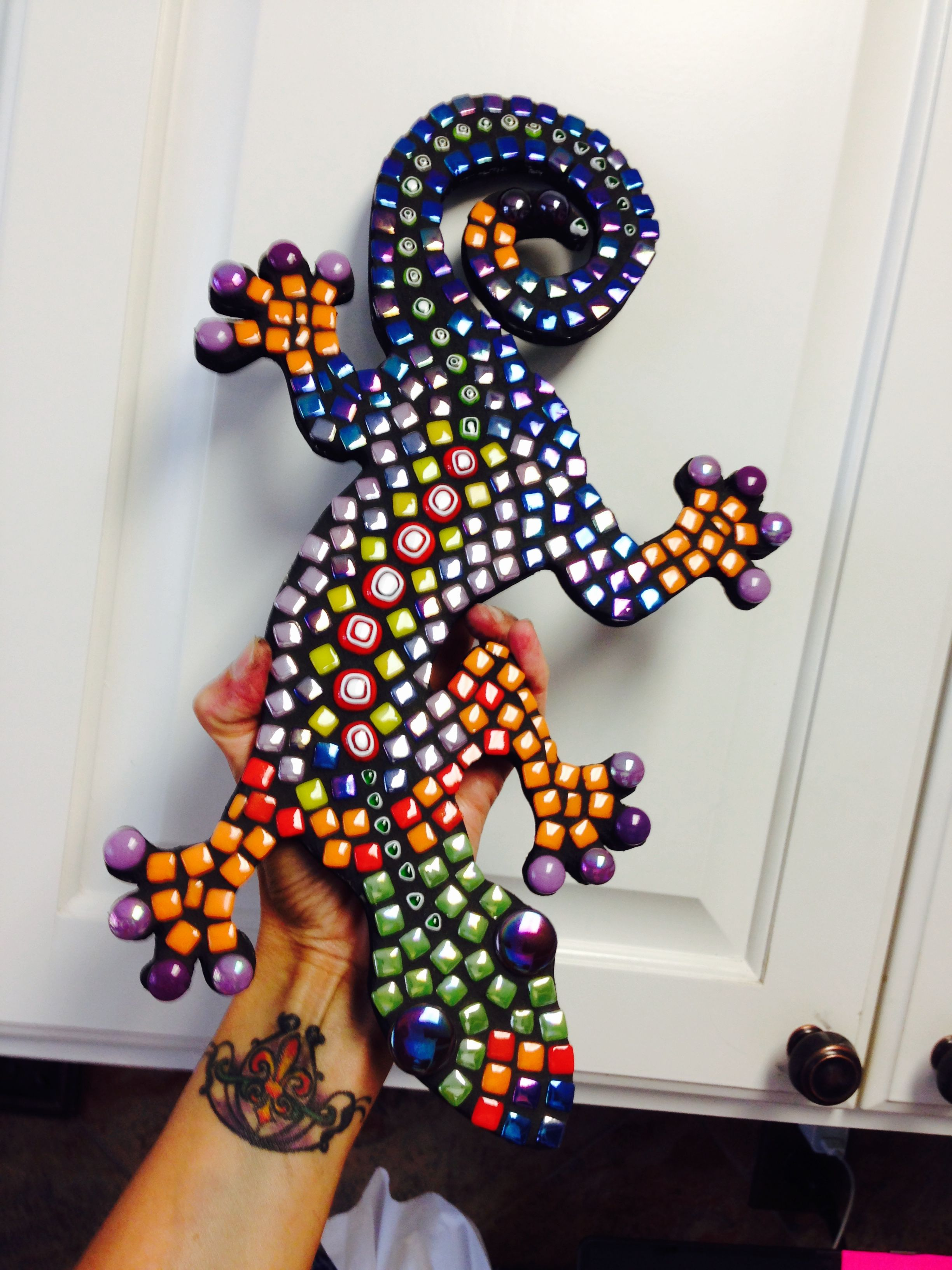 Mosaic Lizard Gecko Stained Glass And Projects Tiles