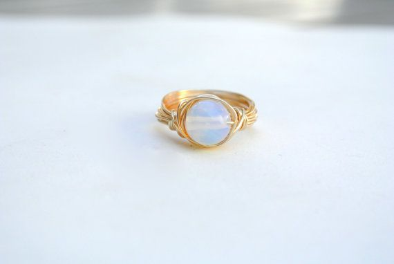Opalite Ring Wire wrapped #Opalite Ring #Crystal #craftshout0211