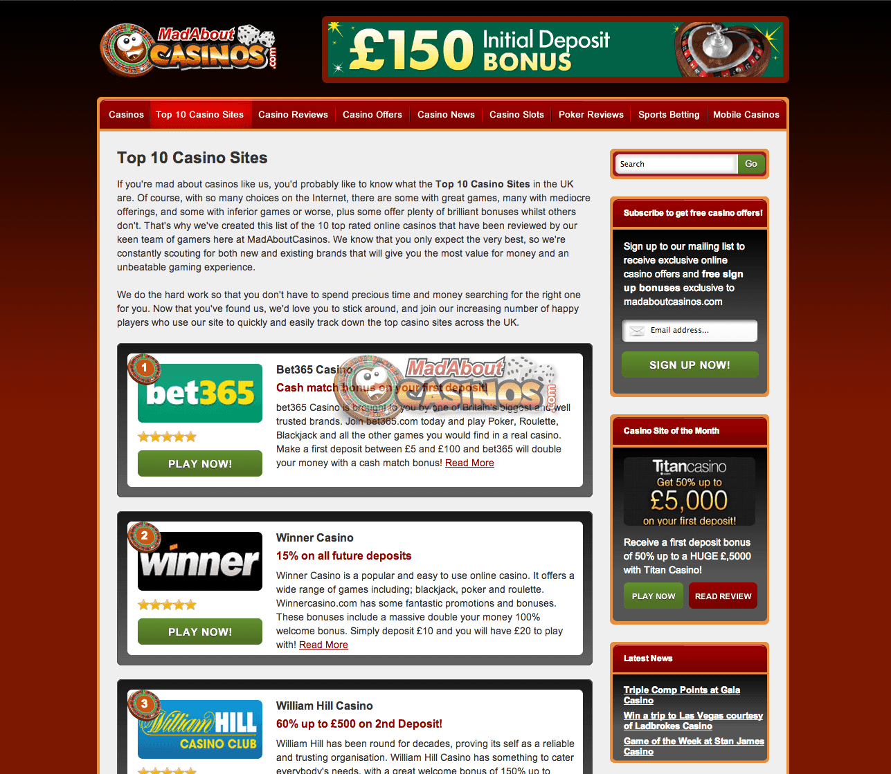 Madabout Casino's, top 10 casino sites http//www
