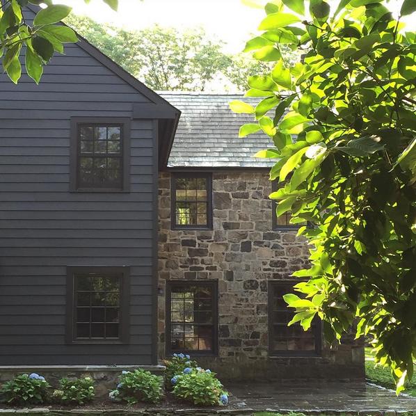 Contemporary Grey House Exterior Waplag Natural Stone Of: Bungalow Blue Interiors - Home