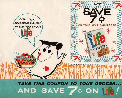 midcenturyblog:Life Cereal Coupon by jerkingchicken on Flickr.