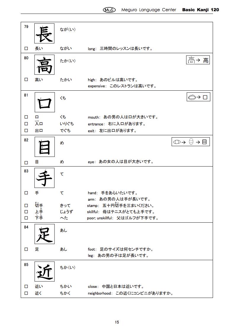 free e mail lesson free worksheets master basic kanji 120 we will