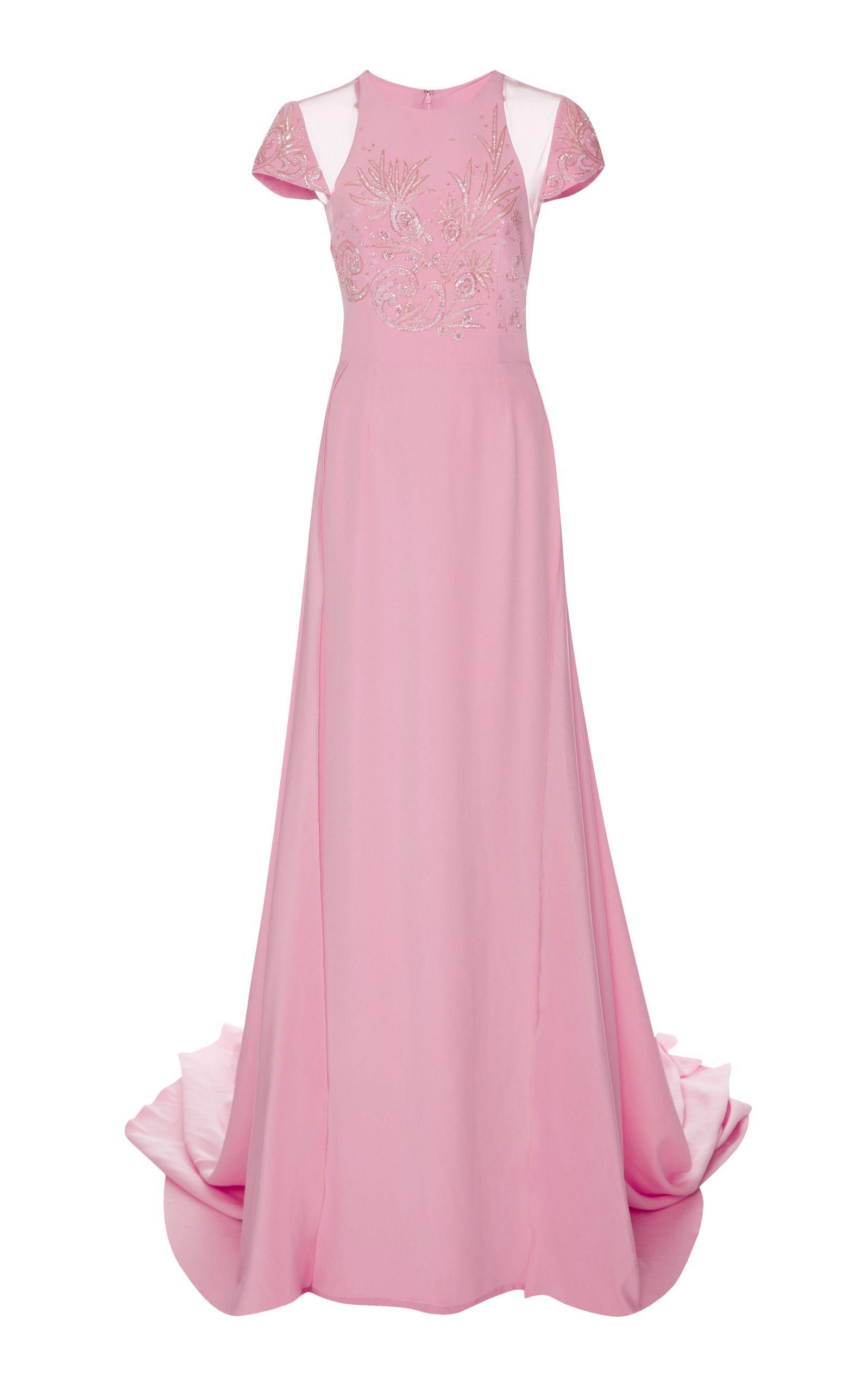 Georges Hobeika Cap Sleeve Embellished Gown | Fashion Lust ...