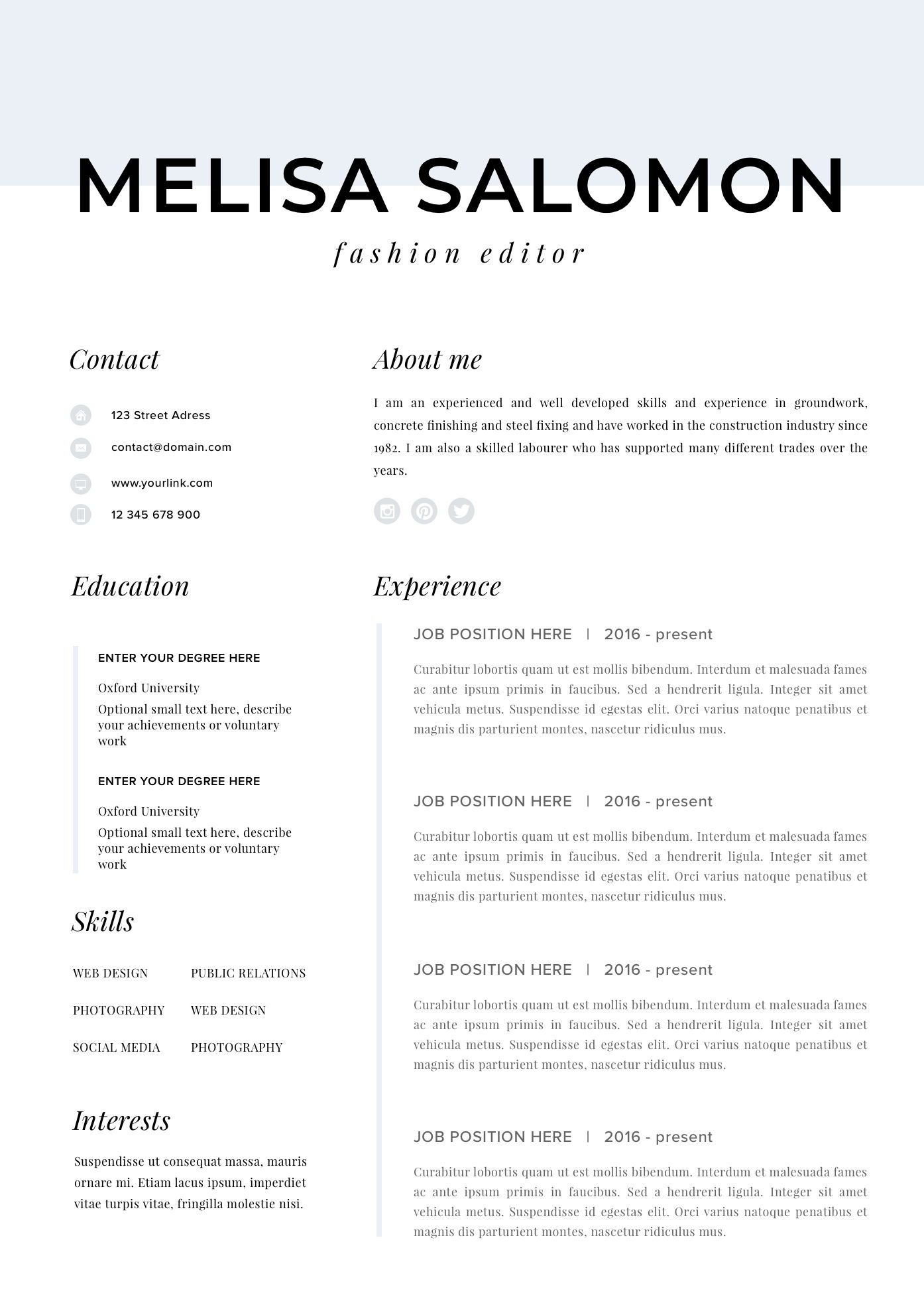 Professional Resume Template For Mac Resume For Pages And Etsy Desain