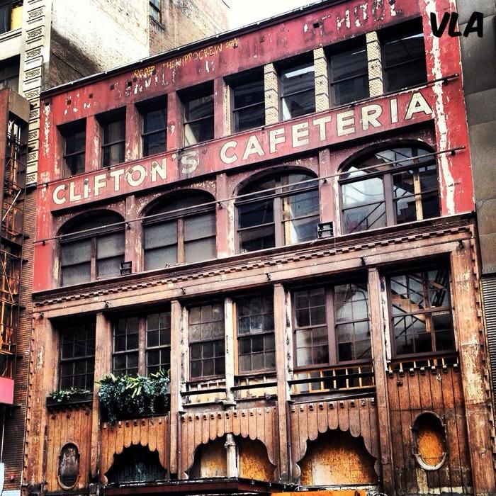 Clifton's Cafeteria, Downtown Los Angeles....Now, Getting