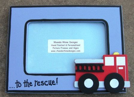 4x6 Fire Truck Picture Frame by rhondarhinedesigns on Etsy, $16.99 ...