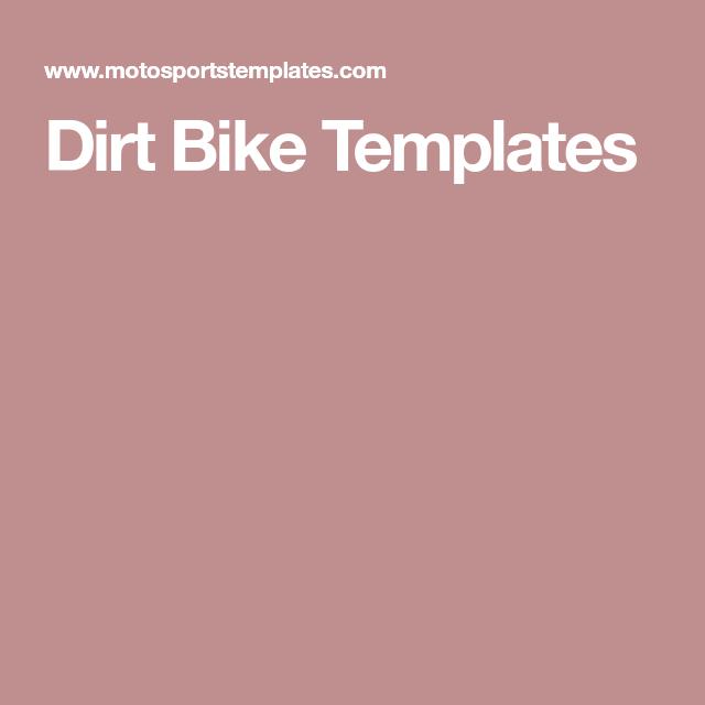 Dirt Bike Templates Bike Dirt Bike Dirt Bikes