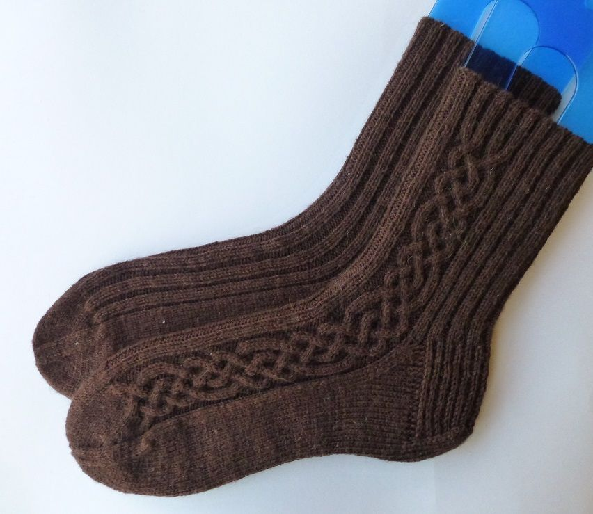 Мужские носки спицами: технология вязания (фото и видео ...