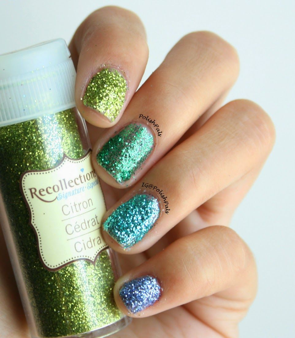 Loose Glitter Nails (+ Tutorial) | PolishPals Nails | Pinterest ...