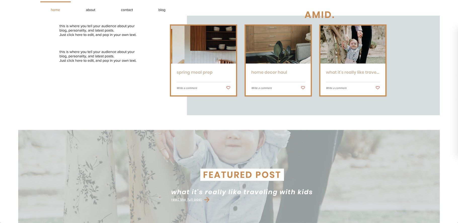 Wix Template Influencer Blogger Wix Templates Wix Free Business Card Templates