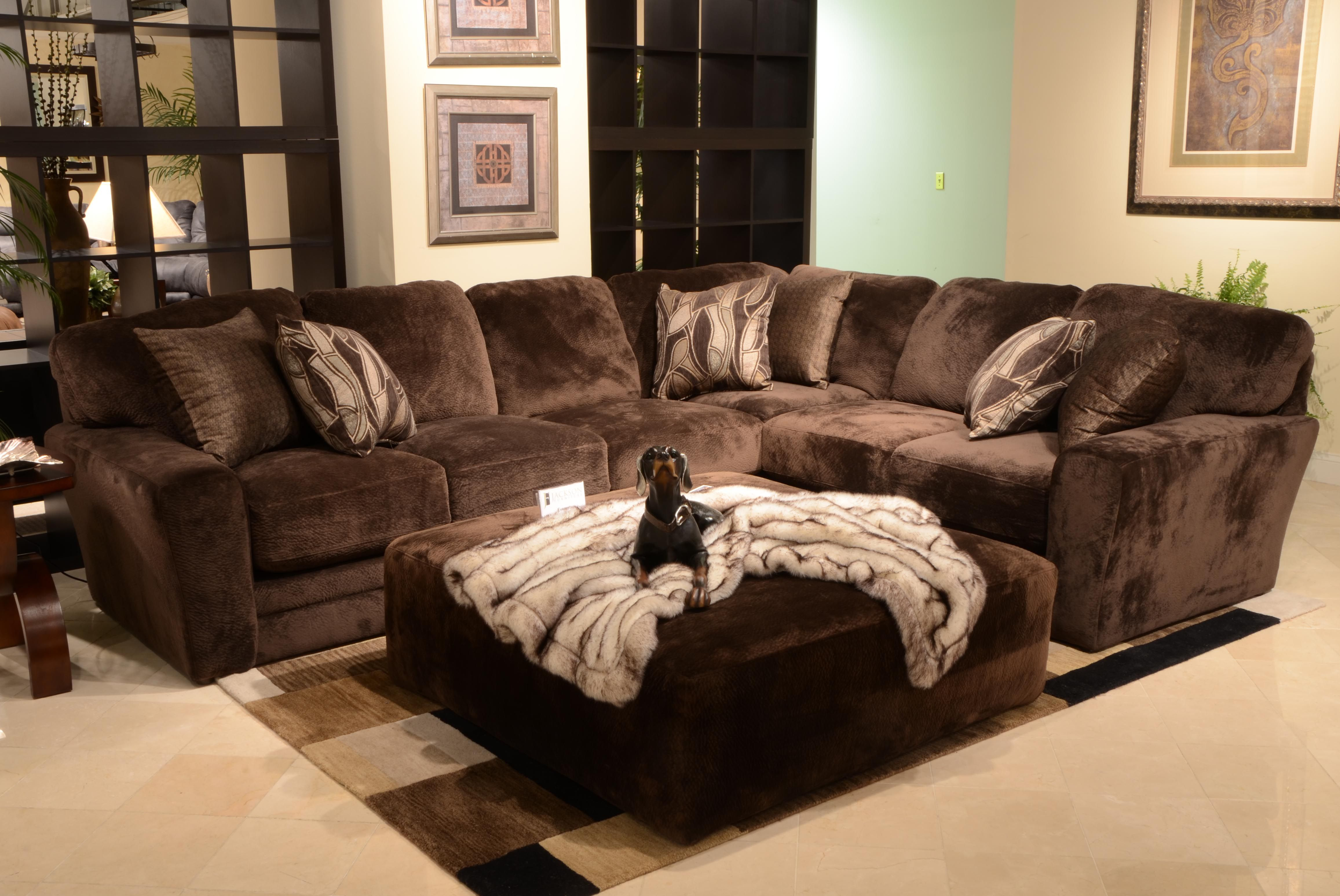 The Everest Sectional In Chocolate From Jackson Furniture