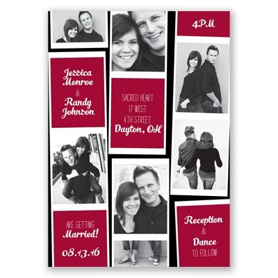 Invite Guests To Your Wedding With This Cute And Trendy Photo Booth Style Invitation