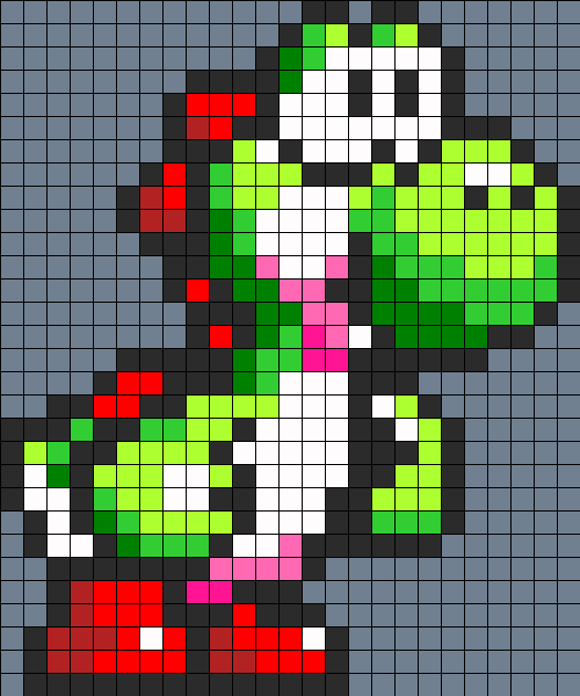 3d Perler Bead Super Mario World Scene With Mario And Yoshi By