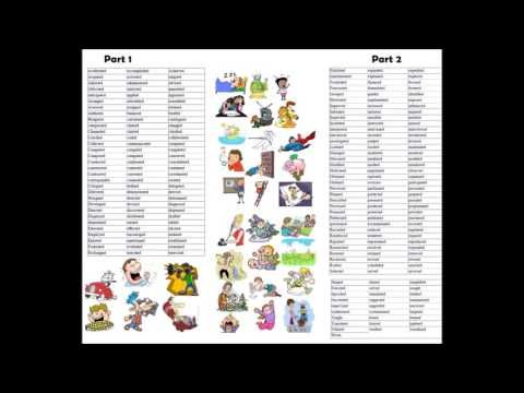List of action verbs video English grammar lesson - Learning - action words list