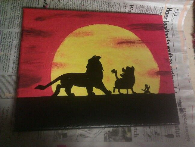 Lion King Canvas | Things I\'ve Made | Pinterest | Lions, Canvases ...