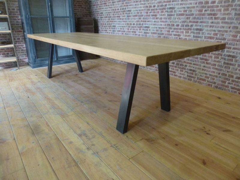 Table Industrielle Table Salle A Manger Grande Table De Salle A Manger Salle A Manger Industrielle