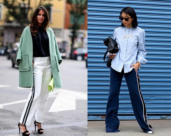 Image result for photos of girl trendy sports pants with high sandals