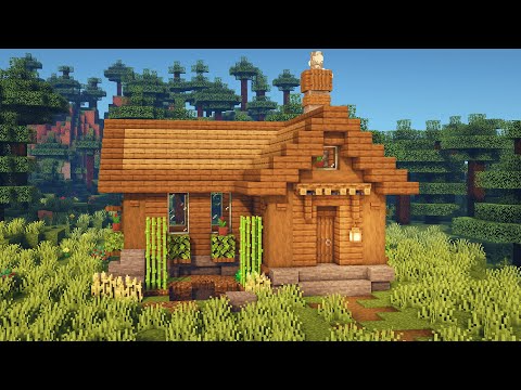 Minecraft How to Build a Simple Spruce Starter House