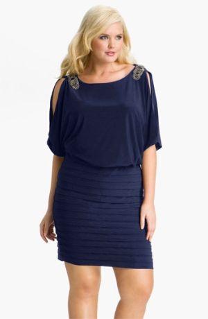 Xscape Embellished Matte Jersey Blouson Dress (Plus) $178.0 ...