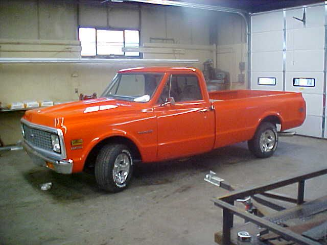 1971 Chevy C10 In Hugger Orange Also Known As Huggy Bear Orange