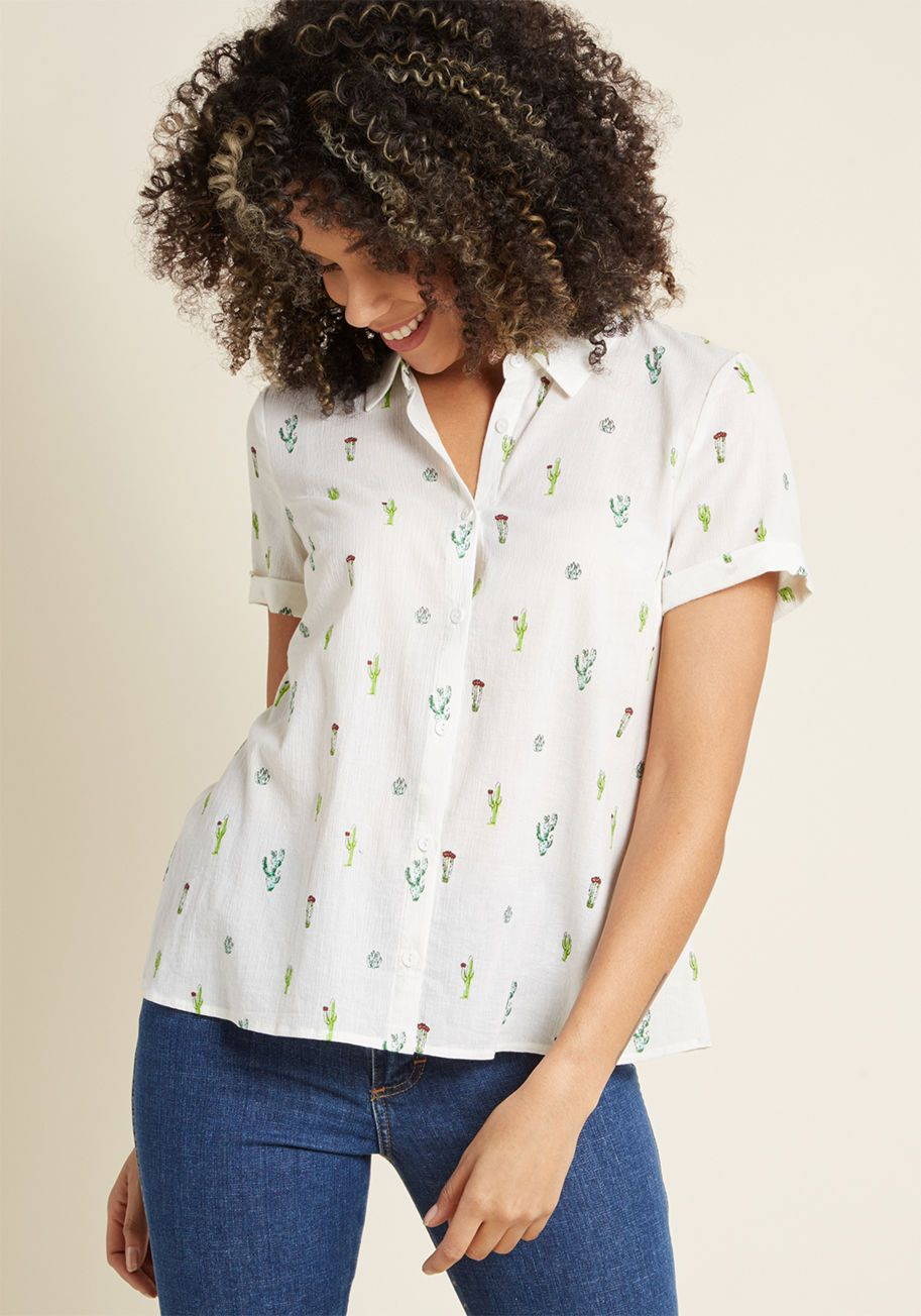 Inspired Idealist Button-Up Top | Work Clothes | Cute