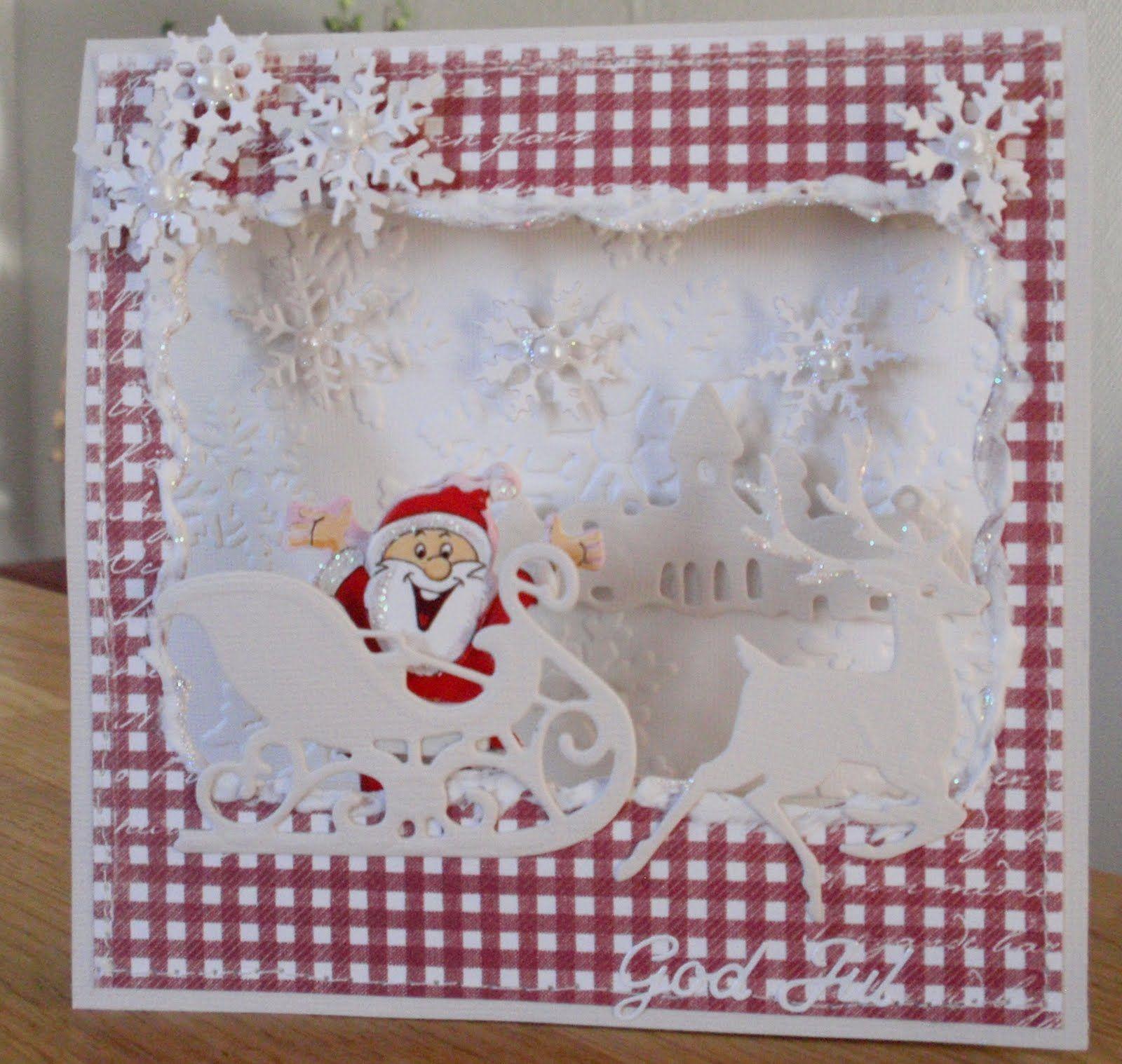 Red & White Gingham Christmas Card