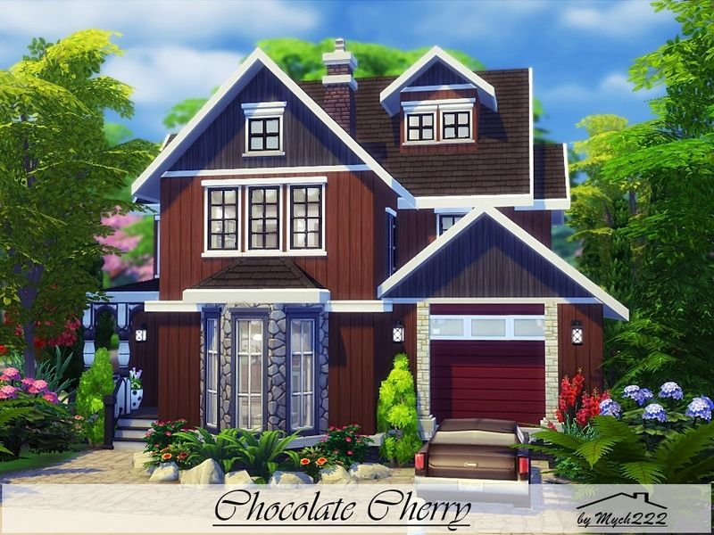 chocolate cherry is a cozy suburban house built on 30x20 lot in
