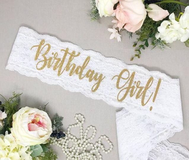 Birthday Sash - 21st Birthday - 30th Birthday -Birthday Party Classy lace sash for the Birthday Girl who wants something unique! These handmade sashes make a perfect gift that she can hold onto and cherish for years to come. PRODUCT INFO: - Birthday Girl! sash - For #21stbirthday #21st #birthday #sash #21stbirthdaydecorations Birthday Sash - 21st Birthday - 30th Birthday -Birthday Party Classy lace sash for the Birthday Girl who wants something unique! These handmade sashes make a perfect gift t #21stbirthdaysash