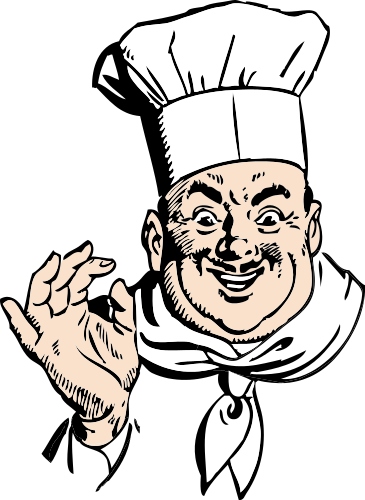 Chef Says Okay Chef Pictures Clipart Black And White Free Clip Art