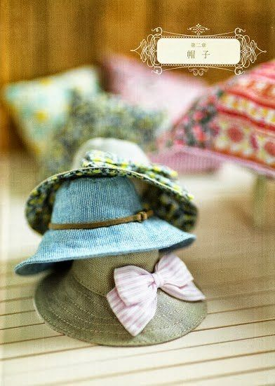 Click picture for free pattern and photo tutorial #dollhats