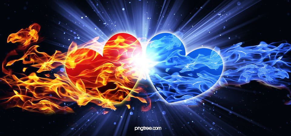 Cool Heart Shaped Blue Flame Hd Background Image Blue Background Images Love Background Images Background Images