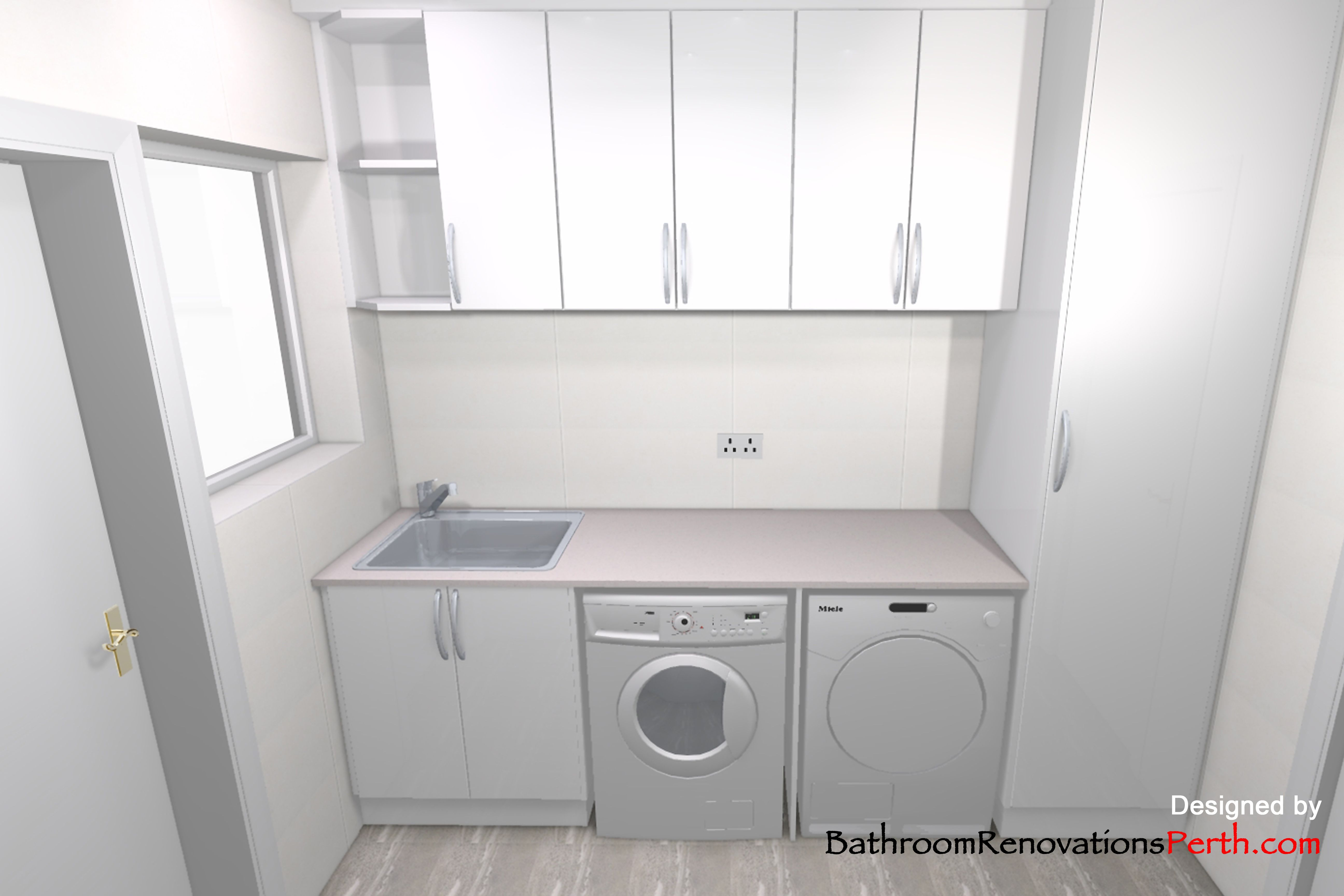 Laundry Designed by Bathroom Renovations Perth https://www.facebook ...