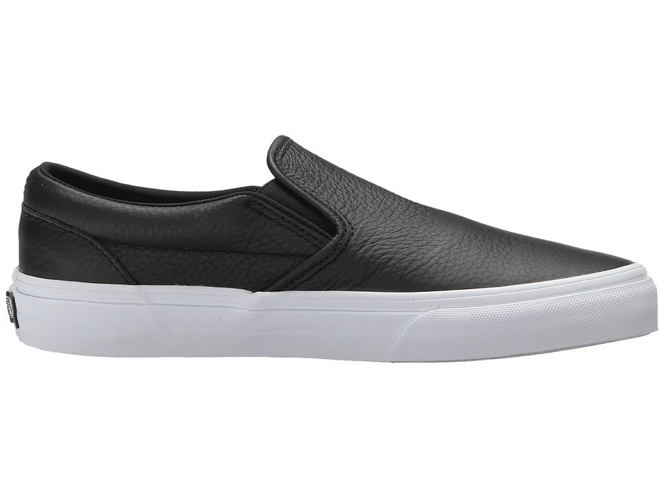 c5ec3e9ac7c Vans Classic Slip-On DX Skate Shoes (Tumble Leather) Black True White
