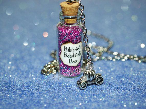 "BIBBIDI BOBBIDI BOO CHARM NECKLACE 18/"" Cinderella Disney Inspired Pendant NEW"
