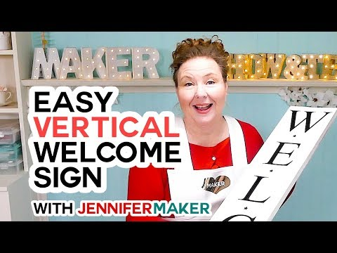 (228) Vertical Sign on a Cricut The Trick to