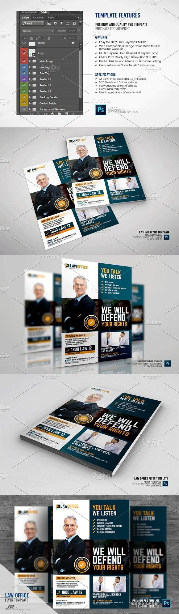 Law and Legal Office Flyer | Flyer design templates, Flyer template ...