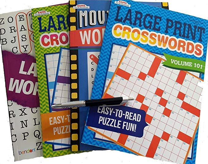 Brain Games Puzzle Books Packs for Adults Large Print: 2 ...