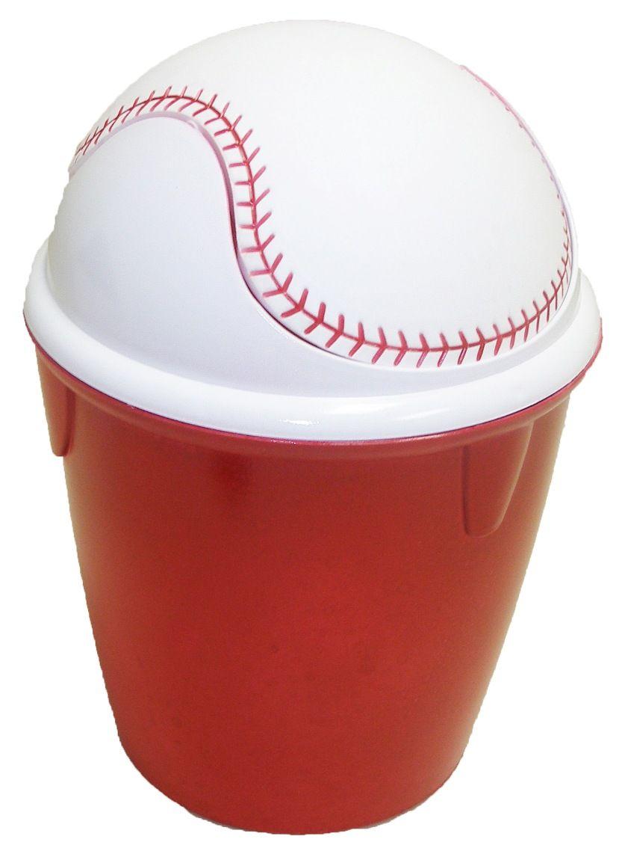 Baseball bathroom ideas - Baseball Wastebasket 10